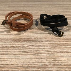 Accessories - 2 Skinny Belts XS/S